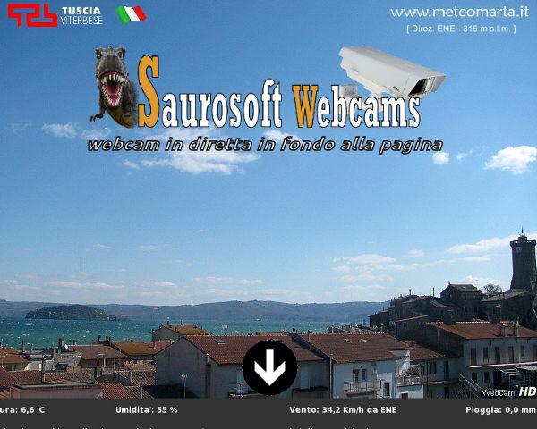 Saurosoft webcams – Meteo Marta